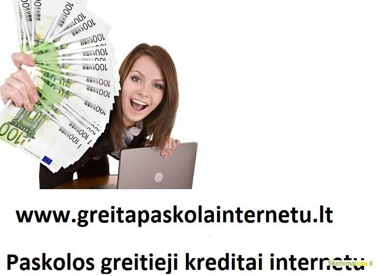 Kreditai internetu. greitas kreditas. paskola internetu.