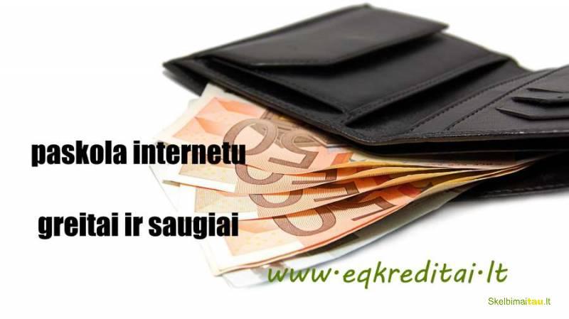 Paskolos, kreditai palankiausios sąlygos